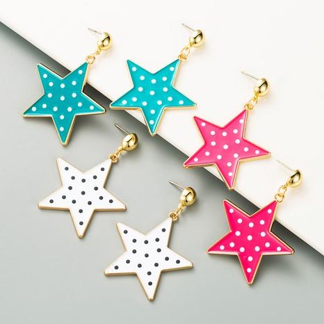 pendientes de gota de aleación de punto de onda de estrella de cinco puntas estilo retro de moda NHLN349121's discount tags