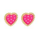 new fashion alloy dripping wave dim sum earrings  NHLN349123