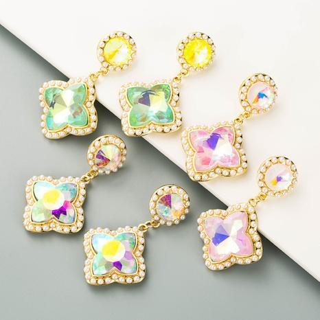 Pendientes de flores de perlas exageradas de nueva moda NHLN349124's discount tags