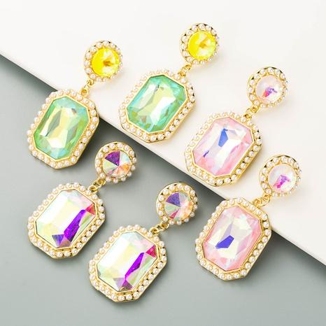 Pendientes de perlas creativos cuadrados exagerados de nuevo estilo de moda NHLN349126's discount tags