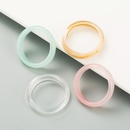 fashion korean style simple acrylic resin candy color ring set NHLN349127