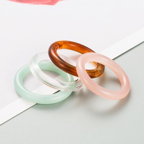 Nuevo conjunto de anillos de resina de color sólido de estilo de moda de Corea NHLN349129's discount tags