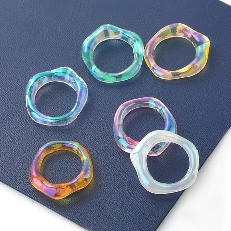 anillo de resina geométrica de nuevo estilo de moda hip-hop NHJE349134's discount tags