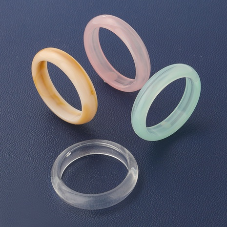 hip-hop simple korean fashion resin ring NHJE349139's discount tags