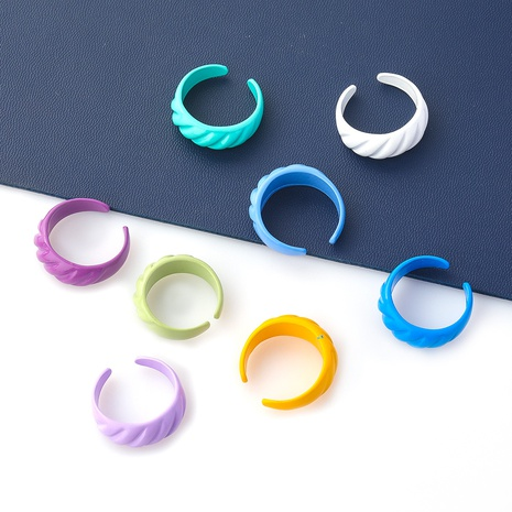 style de mode nouvelle bague en alliage de dentelle rayée simple NHJE349142's discount tags