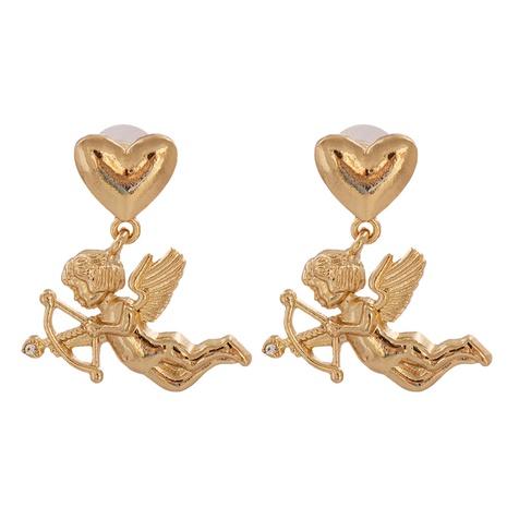 Boucles D'oreilles Coeur Baroque Cupidon Angel En Gros NHJJ349150's discount tags