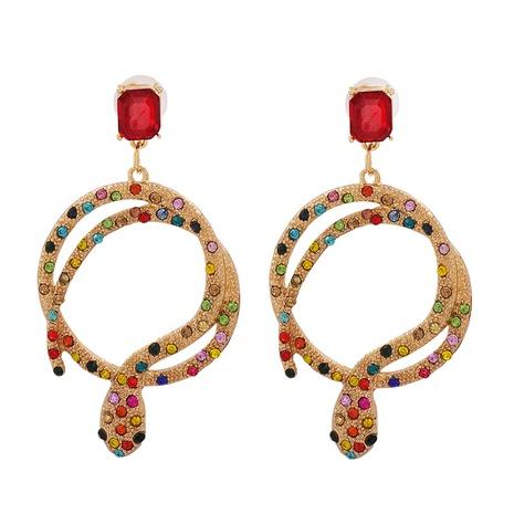 Pendientes largos de serpiente con incrustaciones de diamantes de moda al por mayor NHJJ349152's discount tags