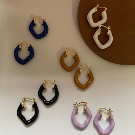 moda coreana nuevos pendientes de esmalte de goteo de moda NHYQ349174's discount tags