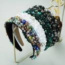 bohemian style rhinestone baroque crystal widebrimmed headbands NHLN350623