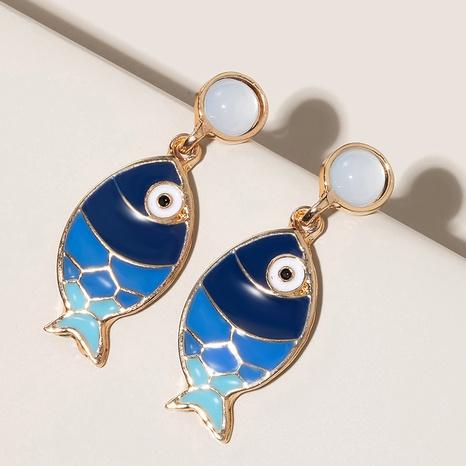 boucles d'oreilles bohème plage vent bleu poisson mode sauvage NHGY348836's discount tags
