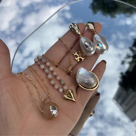 Ensemble de boucles de collier en alliage géométrique multicouche de perles de mode NHANR349301's discount tags