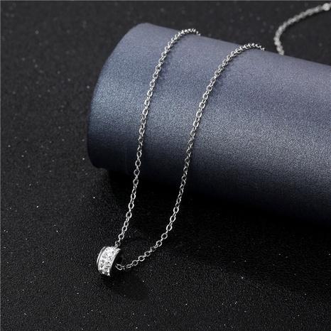 Collier en acier titane à strass géométrique à la mode en gros NHAC349444's discount tags