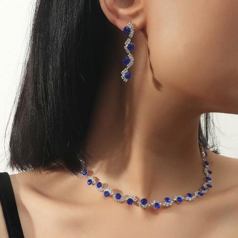 Pendientes de collar de aleación de piedras preciosas púrpuras de moda al por mayor NHIQ349466's discount tags