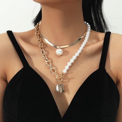 Ensemble de 2 pièces en alliage de perles géométriques à la mode en gros NHKQ349499's discount tags