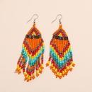 fashion multilayer rice bead long tassel earrings NHKQ349501