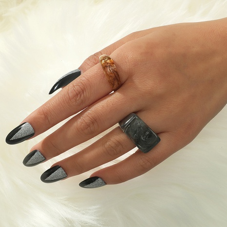 Korea acrylic geometric ring 2-piece NHKQ349508's discount tags
