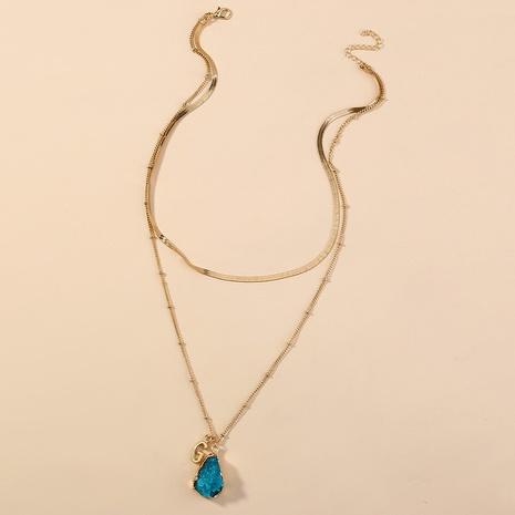Mode Naturstein mehrschichtige Brieflegierung Halskette Großhandel NHAN349544's discount tags