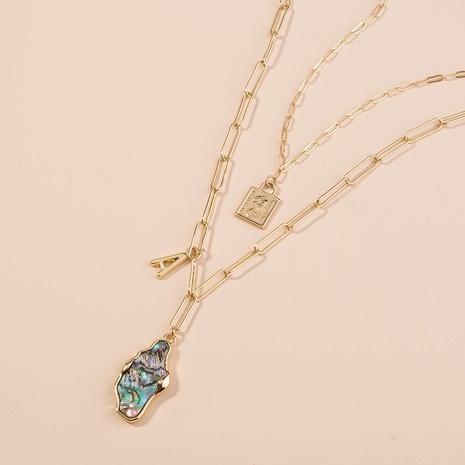 Collar de aleación en forma de corazón con bloqueo de múltiples capas de moda NHAN349551's discount tags