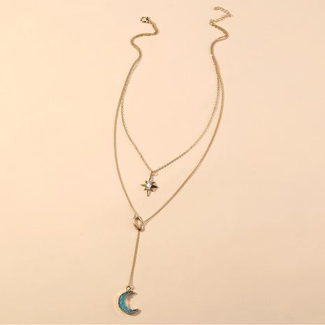 collier de lune pompon en résine multicouche de style nouveau style NHAN349566's discount tags