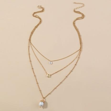 collier élégant élégant à plusieurs couches de style nouveau NHAN349564's discount tags