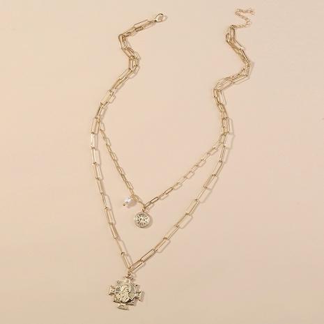 collier pendentif multicouche de perles d'eau douce naturelles NHAN349568's discount tags