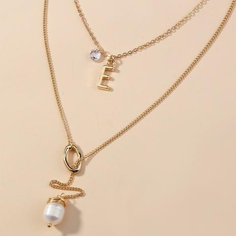 mode nouveau style sauvage 26 lettres E collier pendentif gland perle d'eau douce NHAN349571's discount tags