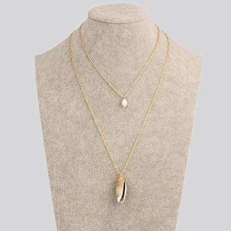 nouveau collier multicouche de pendentif de perles d'eau douce de style de mode NHAN349570's discount tags