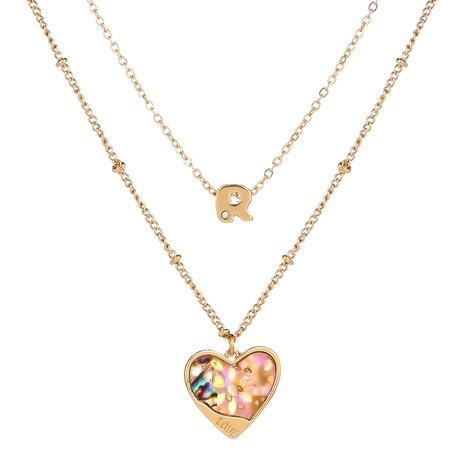 nouveau collier de lettre d'amour multicouche de mode NHAN349573's discount tags