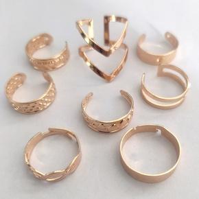 Fashion geometric alloy rings 8-piece set NHLL349605