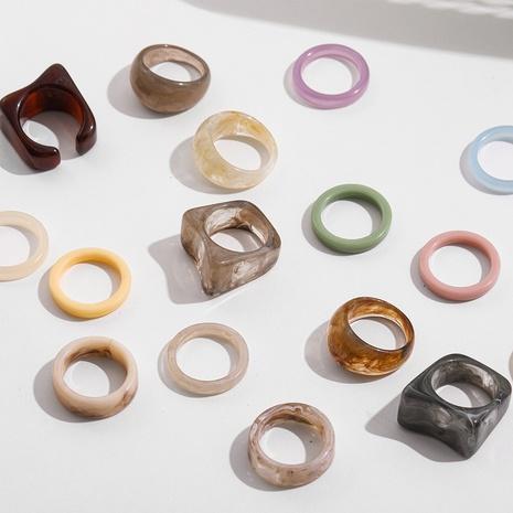 Anillos de resina coloridos geométricos de Corea al por mayor NHLL349601's discount tags