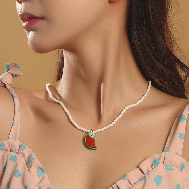 Bohemian Handmade Miyuki Bead Fruit Necklace NHLA349621