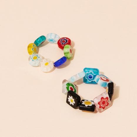 Fashion geometric acrylic resin ring NHAI349726's discount tags