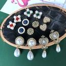 Fashion geometric square round heartshaped earrings NHOM349788