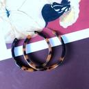 Fashion leopard print resin earrings wholesale NHOM349806
