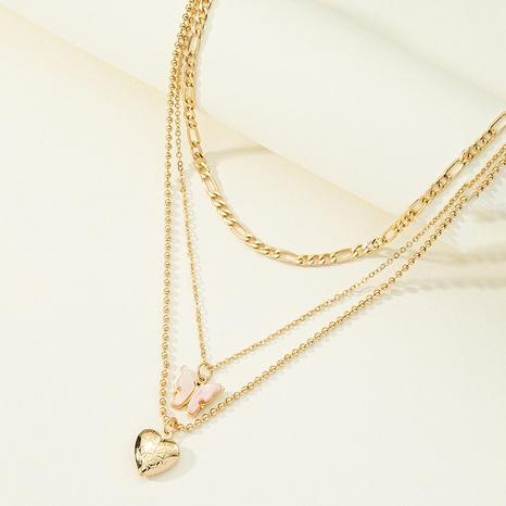 Collier en alliage en forme de coeur papillon acrylique à la mode NHQJ349818's discount tags