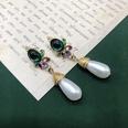 NHOM1617288-Short-Pearl-925-Silver-Needle-Stud-Earrings