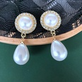 NHOM1617315-Round-Pearl-Silver-Needle-Stud-Earrings-1.74.3CM