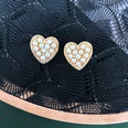 NHOM1617316-Love-Silver-Needle-Stud-Earrings-1.81.4CM