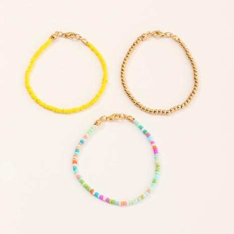 ethnic style single row rice bead handmade braided bracelet  NHNU350004