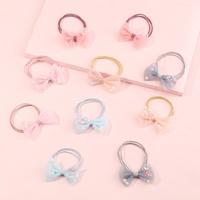 Korean style organza bow pearl sequin hair rope NHNU350001