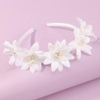 Korean style children's flower hairband wholesale NHNU350000