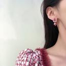 retro style imitation pearl geometric earrings wholesale NHBY349892