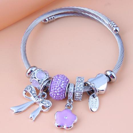 fashion metal wild simple wild bow flower bracelet NHSC349986's discount tags