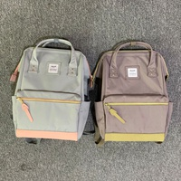 Korean version contrast color anti-theft casual backpack  NHBN349946