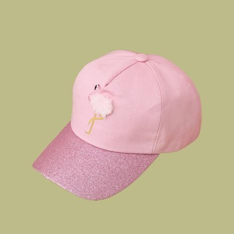 Pare-soleil de style coréen à large bord broderie grue casquette de baseball pour enfants NHTQ349968's discount tags