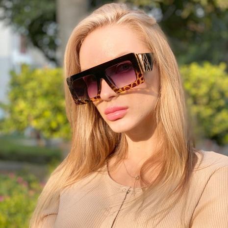 nuevas gafas de sol con montura impresa de moda coreana NHLMO350256's discount tags