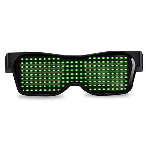 moda nuevo estilo APP bluetooth LED patrón luminoso LED gafas de sol NHLMO350268's discount tags