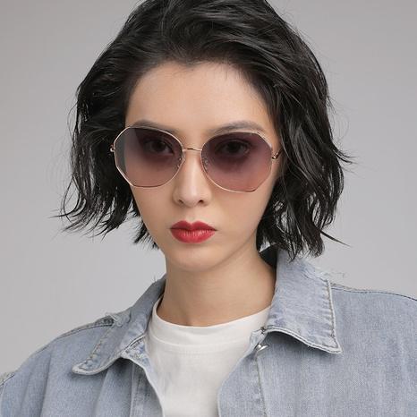 gafas de sol polarizadas huecas polígono de estilo simple de moda NHLMO350271's discount tags
