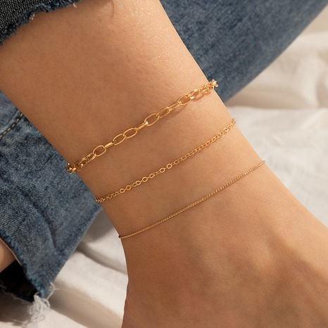 bohemian beach style simple alloy anklet women's 3-piece set NHGY351024's discount tags