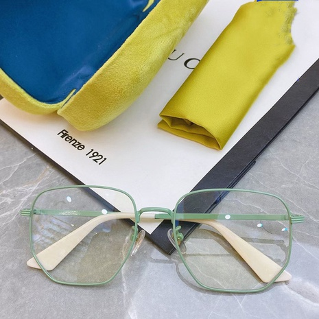 Gafas de lentes planas poligonales irregulares anti-Blu-ray de moda NHKD350152's discount tags
